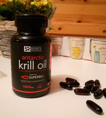 Review of Sports Research 1000Mg Antarctic Krill Oil with Omega-3