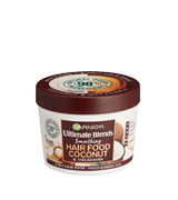 Garnier 390ml Ultimate Blends Hair Food Coconut Oil 3-in-1 Frizzy Hair Mask Treatment