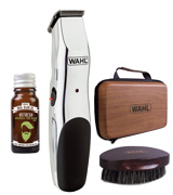 Wahl 9916-802X Beard Care Rechargeable Trimmer Beard Oil and Beard Brush Kit