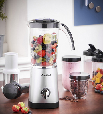 Review of VonShef 13/124 Blender, Multifunctional Smoothie Maker, Juicer & Grinder