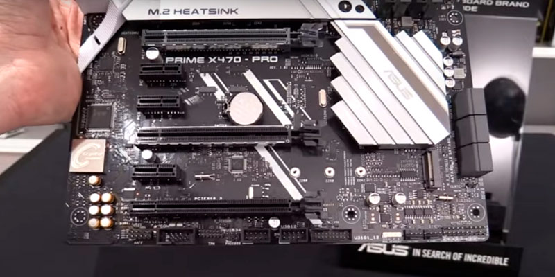 ASUS PRIME X470-PRO Motherboard in the use
