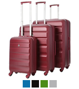 Aerolite Lightweight Suitcases 3-Piece Luggage Set