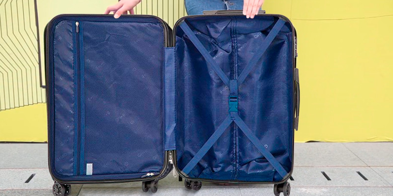 Coolife Expandable Hard Shell Suitcase with TSA Lock in the use