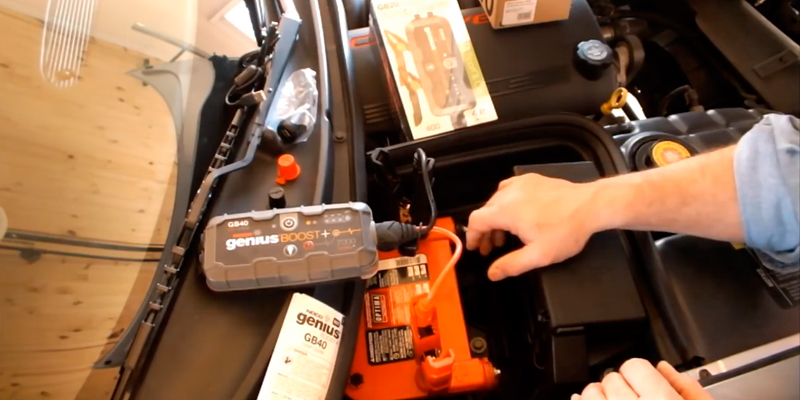 NOCO Genius Jump Starter in the use
