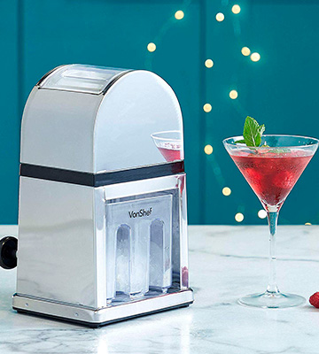 Review of VonShef Ice Crusher Machine Manual with Scoop and Ice Tray