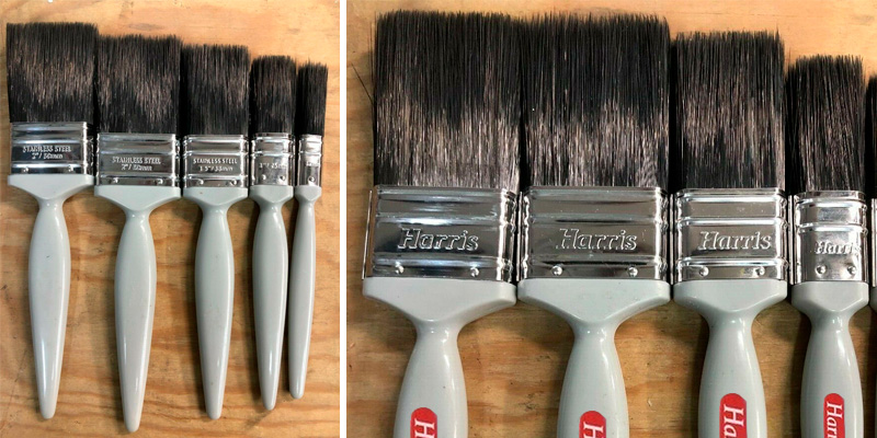 Review of Harris Set 5 Piece Gloss Decorating Paint Brushes