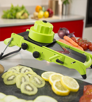 Review of Tower T80413 All-in-One Mandoline Slicer, Green and Grey