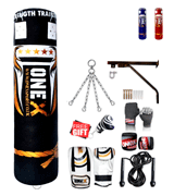 ONEX Heavy Filled 11 Piece 5ft Boxing Punch Bag Set