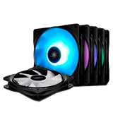DEEP COOL (RF120M) 120mm RGB Fans with Hubs (Pack of 5)