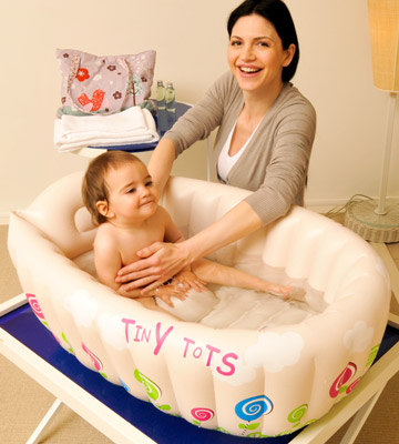 Review of MTS Tiny Tots Inflatable Baby Bath Tub Portable
