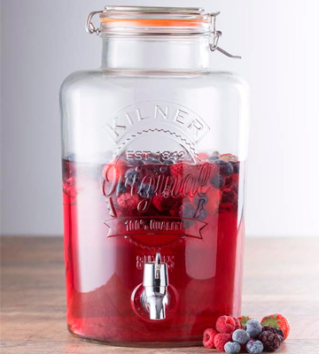 Review of Kilner Drinks Dispenser Clip Top Round Glass