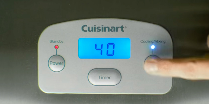 Cuisinart ICE100BCU Gelato and Ice Cream Maker in the use