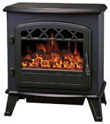 Galleon Fires Castor Freestanding Electric Fireplace with Realistic Log Effect
