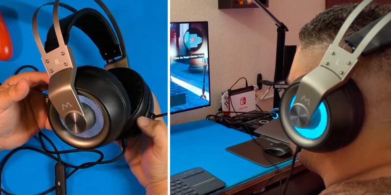 Mpow GFMPBH209AH Gaming Headset with 50mm Drivers in the use