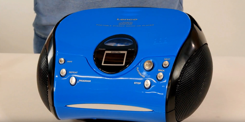 Review of Lenco SCD-24 B Portable Stereo Boombox with Programmable CD Player and FM radio