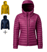Rab Microlight Alpine highly packable and warm down hooded jacket