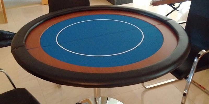 Review of EBS Compact Folding Round Poker Table Top in Blue Speed Cloth - 120cm
