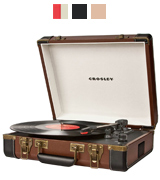 Crosley CR6019A-BR Executive Briefcase Style Turntable