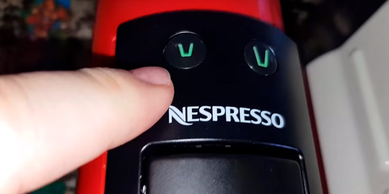 Nespresso Essenza Mini Coffee Machine in the use
