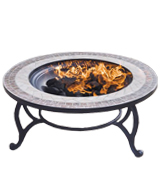 Trueshopping 653003TCB Fire Pit and Coffee Table