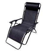 Denny International DI-Z001-B Black Textoline Zero Gravity Reclining Garden Sun Lounger Chair