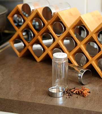 Review of Harcas Large 18 Spice Jars Free Standing Spice Rack