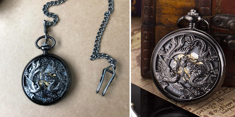 Review of ManChDa Lucky Dragon & Phoenix Vintage Pocket Watch