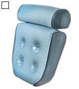Blue Coast Collection BCC-001 Bath Pillow for Tub with 4 Strong Suction Cups
