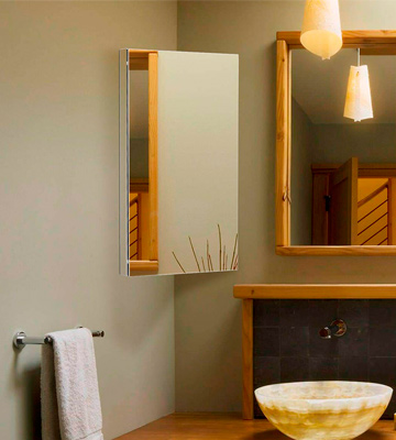 Review of Harima Bathroom Corner Cabinet with Mirror and 3 Shelves Wall Mounted, Stainless Steel Frame