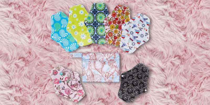 Review of Rovtop 7Pcs Heavy Flow Night Washable Cloth Reusable Sanitary Pads