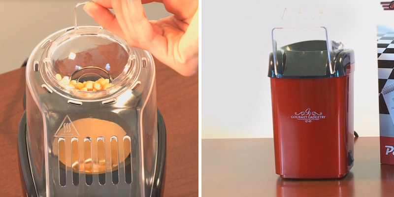 Gourmet Gadgetry The New Retro Diner Popcorn Maker in the use