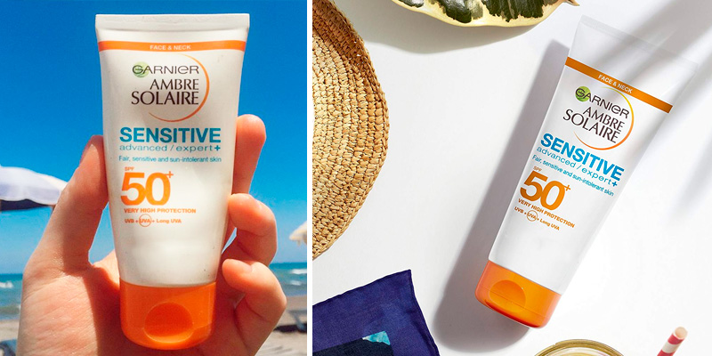 Review of Garnier _Ambre Solaire Sensitive Face and Neck Sun Cream SPF50+