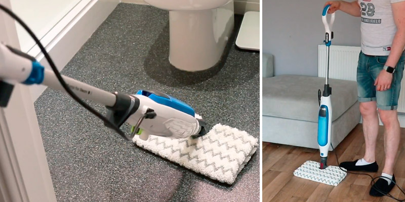 Shark S6001UK Klik n' Flip Corded Steam Pocket Mop in the use