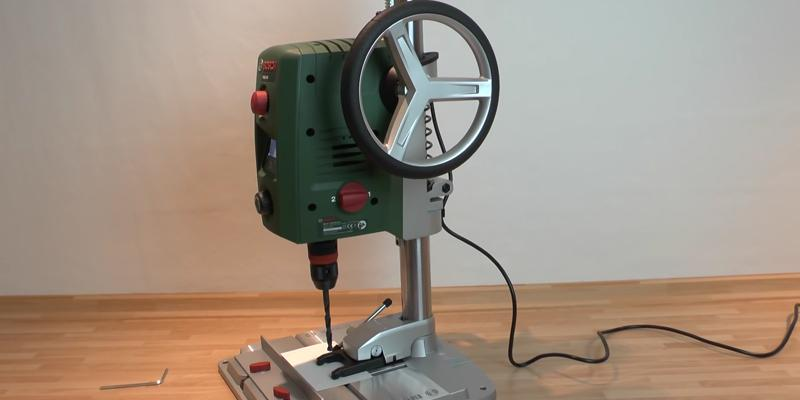 Bosch PBD 40 Bench Drill Press in the use