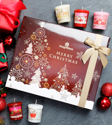 Review of the gift box Christmas Scented Candles Gift Set