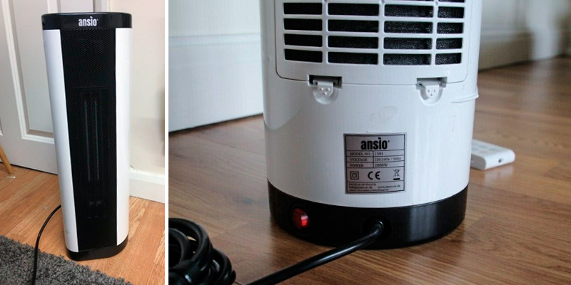 ANSIO 2000W Oscillating PTC Ceramic Tower Heater in the use