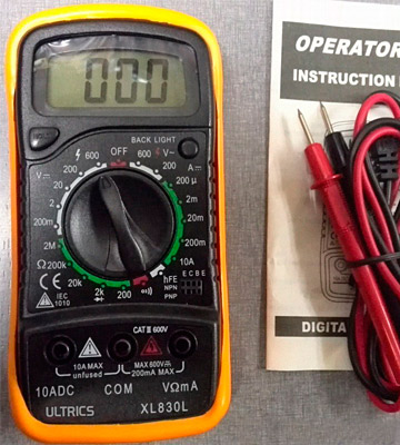 Review of ULTRICS FBA0021YB Digital LCD Multimeter