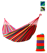 Signswise UK-0204-01 Portable Garden Beach Travel Canvas Hammock