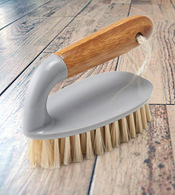 Review of Addis Floor and Tile Scrub Brush Iron Style with Natural Bamboo Handle