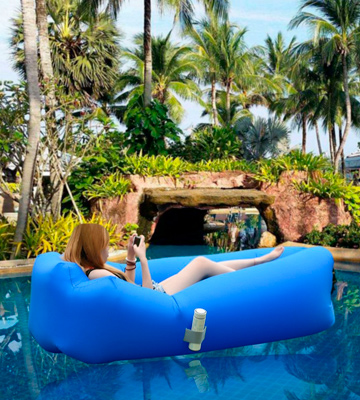 Review of IREGRO Inflatable lounger Waterproof inflatable Sofa with Storage Bag Air Sofa lounger