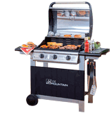 Fire Mountain JE03710401 3 Burner Gas Barbecue