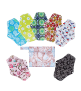 Rovtop 7Pcs Heavy Flow Night Washable Cloth Reusable Sanitary Pads