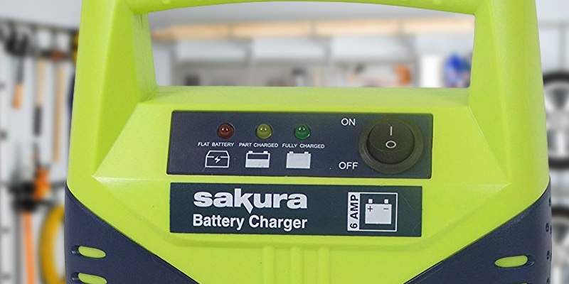 Sakura SS3630 12V Battery Charger, 6 Amp in the use