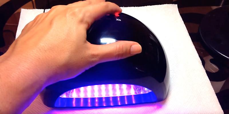 MelodySusie LED Nail Dryer in the use