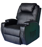 HomCom UKA2-00630331 Luxury Leather Recliner Sofa Chair