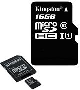 Kingston microSDHC with adapter