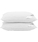 Adam Home Pack of 2, Standard Size Duck Feather and Down Pillows