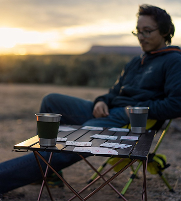 Review of Trekology Portable Camping Table Aluminum Table Top