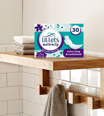 Review of Lil-Lets 30Pcs Extra Long Maxi Thick Maternity Pads with Wings