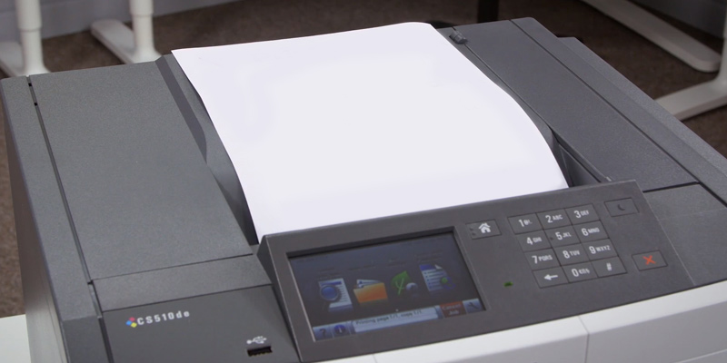 Lexmark CS510DE Laser Colour Printer in the use